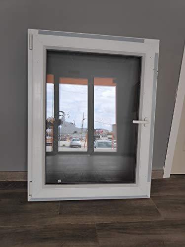 Ventana de PVC Practicable/Oscilobatiente Izquierda 85cm de ancho y 110 cm de alto con Perfil de 6 cámaras con un espesor de 75 mm