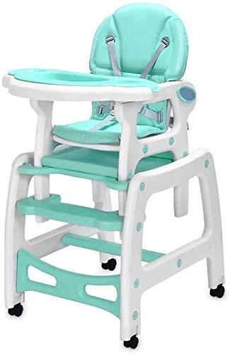 Trona multifunción silla de bebe mesa de comedor y sillas altas para niños asiento para bebés lanzador cinturón de 3-en-1,Blue