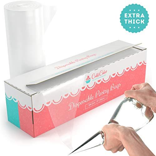 CukkiCakes Mangas Pasteleras Desechables Grandes (53cm) Profesionales - 100% Reciclables - Extra Gruesas (100 uds)