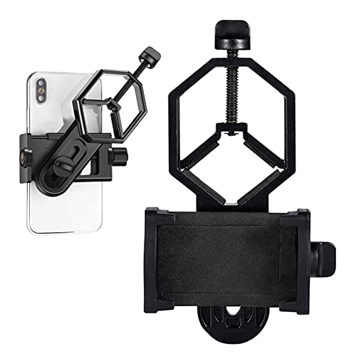 Universal Telescope Cell Phone Adapter Mount,for Microscope, Telescope, and Binocular, Monocular, Night Vision Spotting Scope Fits Almost All Smartphone on The Market