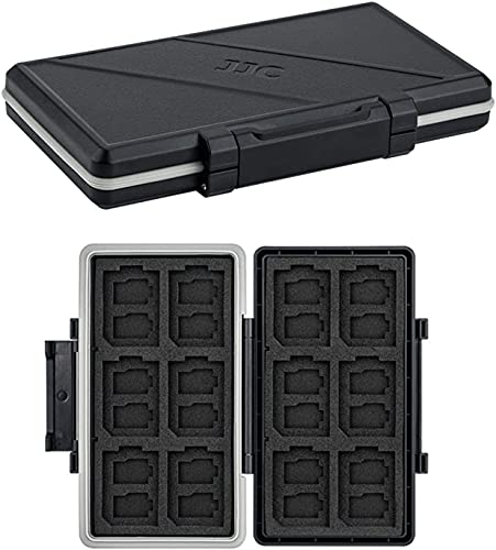 Funda para tarjetas de memoria con 36 ranuras, resistente al agua, antigolpes, para 24 tarjetas Micro SD, SDXC SDHC TF y 12 tarjetas SD SDXC SDHC