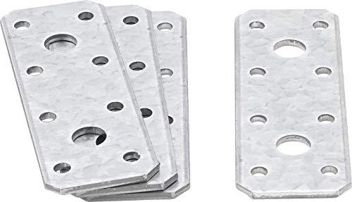 Kraftmann 80784 | Plaque de fixation plate | 100 x 35 x 2,5 mm | 4 pièces