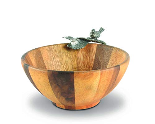 "Vagabond House Song Bird Salad Bowl - Single Serve 7.5"" Diameter x 4"" tall"