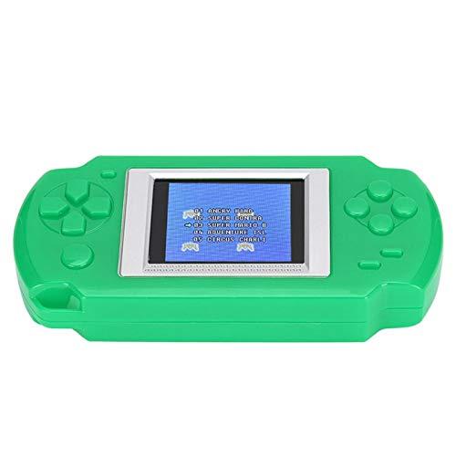 minifinker Consola de Juegos portátil con Pantalla a Color 268 en 1, para Fiestas Familiares, para Regalo de cumpleaños, para niños(Green)