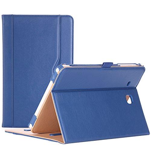 ProCase Custodia per Samsung Galaxy Tab E 9.6 – Custodia Stand Folio per Galaxy Tab E 9.6   Tab E Nook 9.6-pollici Tablet (SM-T560   T561   T565 e SM-T567V Verizon 4G LTE Version) -Blu Marino