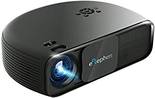 ELEPHAS HD Home Cinema Overhead Video Projector with 3300 Luminous Efficiency LED Projector Support 1080P HDMI USB VGA TV ...