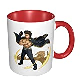 Kondo Isao Gintama Ceramic Coffee Mug,Big Tea Cup for Office Home, 11 Oz, Dishwasher and Microwave Safe, 1 PCS(white)