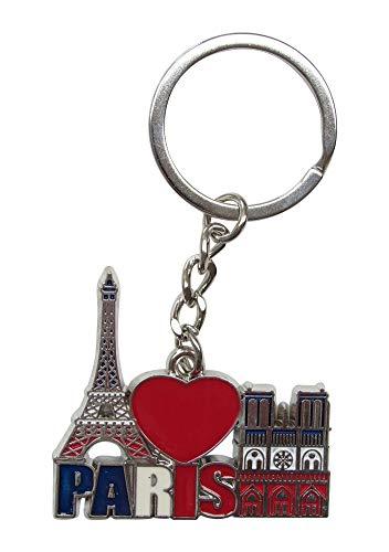 Générique sleutelhanger, tassensieraden, Eiffeltoren en Onze-Lieve-Vrouw van Parijs, Frankrijk in staal