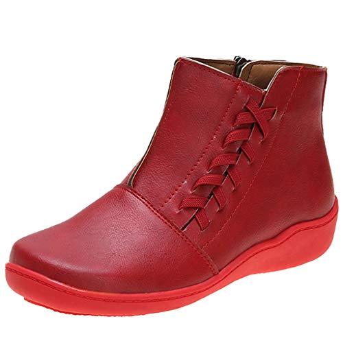 Minikimi Laarsjes, platte dames, kunstleer, herfst, vintage, veterschoenen, dames, comfortabele platte hiel, ritssluiting, korte boot