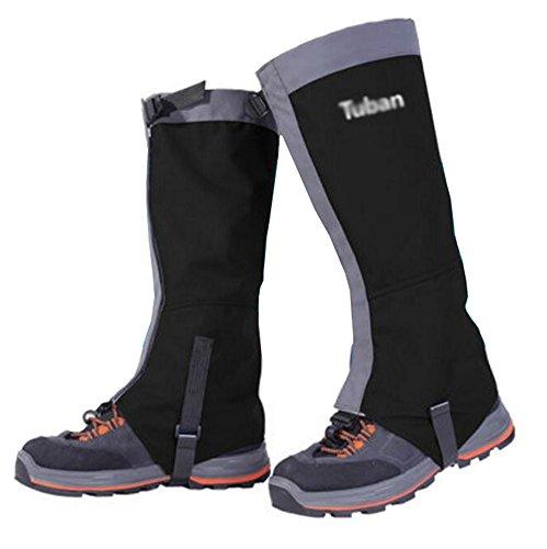 Black Temptation Randonnée/Escalade/Camping/Ski amélioré Chaussures Gaiter pour adul- Noir