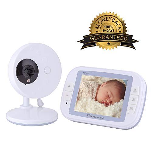 BABY MONITOR ZLMI Moniteur pour bébé avec Fonction d'interphone bidirectionnelle Intégré bébé Dormir Lullaby Écran LCD Haute définition de 3,5 Pouces Portée de l'application de 15 à 200 mètres