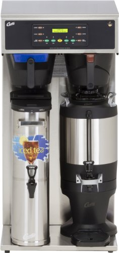 Wilbur Curtis G3 Combo Coffee Tea Brewer 3.5 Gallon Tea/1.5 Gallon Coffee, Twin Tea And Coffee Brewer - Commercial Combo Coffee Tea Brewer - CBHT (Each)