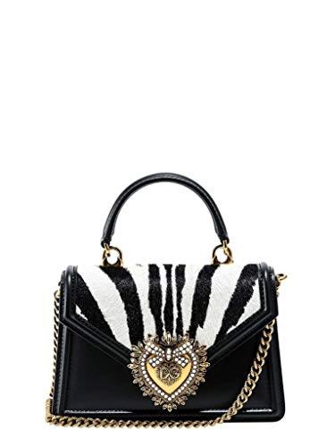 DOLCE E GABBANA Luxury Fashion Damen BB6711AX663HWAGN Schwarz Leder Schultertasche | Frühling Sommer 20