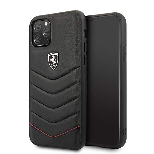 Custodia in pelle della collezione Heritage Quilted FEHQUHCN65BK per iPhone 11 Pro Max, nero
