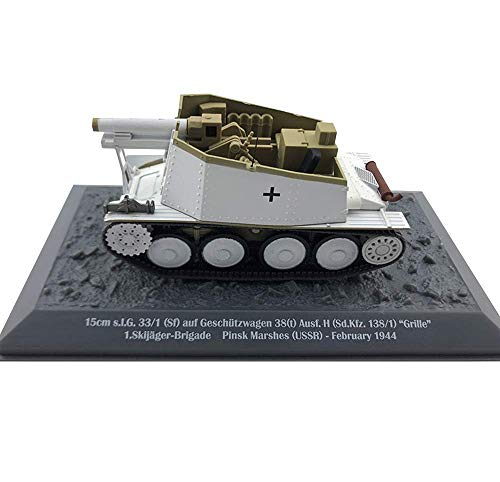 HYLL 1/43 Scale Diecast Tank Metal Model, SLG 33/1 SF Auf Geschutzwagen 38 Tank Germany, Military Toys and Gifts, 5.1Inch X 2.2Inch