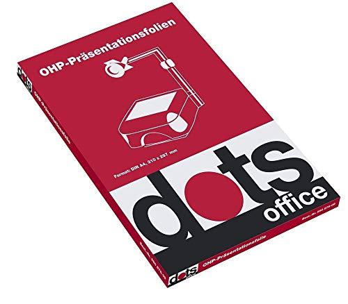 dots OHP-Präsentationsfolien (S/W-Laser) - 100 Stk.