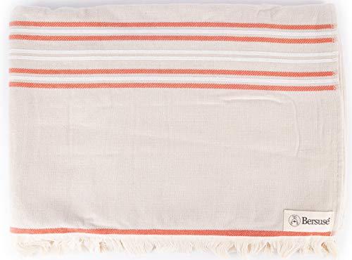 Bersuse Lagos - Toalla turca (100% algodón, 90 x 170 cm, 3 unidades)