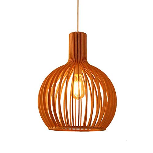 Semi-Flush Rustic Natural Bamboo Pen Shop Restaurant Hanging Light DIY Wicker Rattan Shades Weave Hanging Light Wooden Plug inr Lamp for Bar Cafe Bedroom Living R