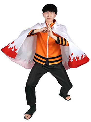CoolChange Naruto Uzumaki Nanadaime Hokage Cosplay Kostüm, Hose Jacke & Mantel, Größe: L