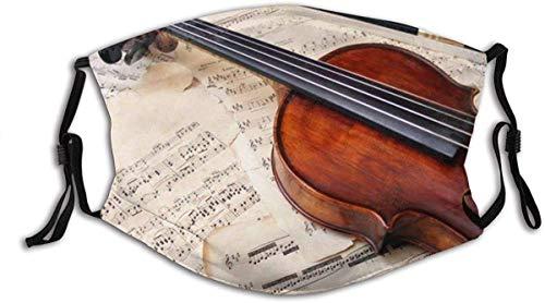 Musikinstrument Hintergrundbilder Noten und Gitarre Modische Halstuch Gesicht c0ver-Staubdicht, Winddicht, Atmungsaktiv, Angeln, Wandern, Radfahren