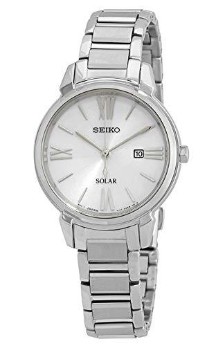 Seiko Reloj Analógico para Mujer de Cuarzo con Correa en Acero Inoxidable SUT323P1