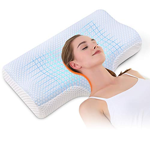 Memory Foam Pillow And Upgraded Support Pillow for Sleeping
