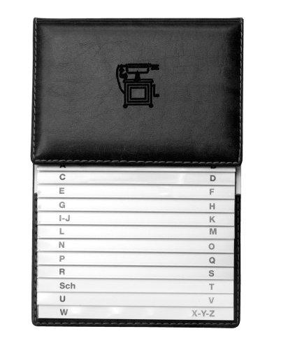 Veloflex 5157780 - Telefonschuppenregister 155 x 225 mm, mit Kunststoffregister, aus Weichfolie, schwarz