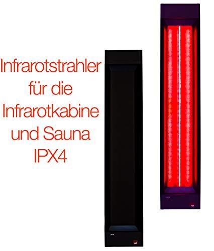 500W InfraROTstrahler INFRAROTMED für Sauna und Infrarotkabine B-Qualität, Tiefenwärmestrahler zum Nachrüsten oder Selberbauen, Vollspektrumstrahler mit Montageanleitung