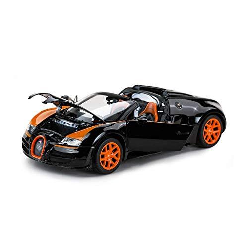 XHAEJ Modelo de automóvil Modelo de automóvil Modelo 1/18 Simulación de aleación de Velocidad Mujer DE JEGÍA Coche Modelo DE Coche Modelo Doble Puerta Versión Compatible con Bugatti (Color : Black)