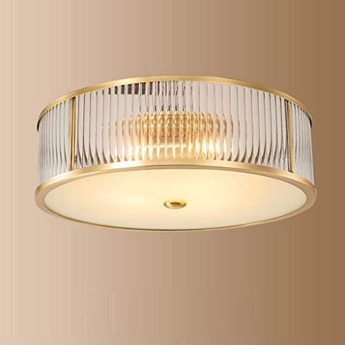 JTD plafondlamp voor familie, creatief, Europes, van messing, eetkamer, woonkamer, plafondlamp, lamp voor slaapkamer, hal, schaduw van glas, verlichting E27 45 * 45 * 13cm