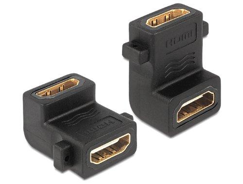 DELOCK Adaptador HDMI-A Hembra a Hembra A Hembra 90G acodado con conexión...