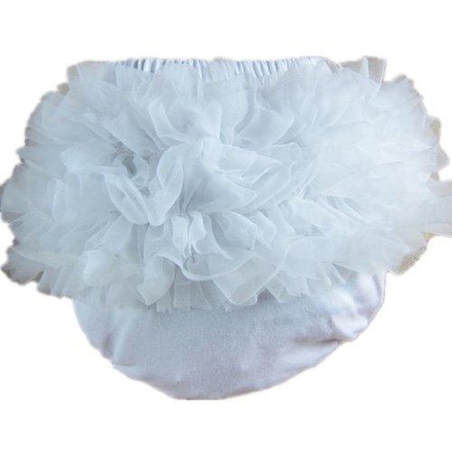 Buenos Ninos Baby Girl's Cotton Shorts and Briefs Chiffon Ruffle Bloomers
