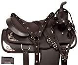 Acerugs New Comfy GAITED Western Pleasure Trail Show Horse Saddle TACK 14 15 16 17 18 Free Bridle REINS Breast Collar (17)