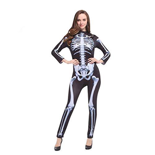 QLQGY Halloween Carnaval Party Kostuum Familie Enge Demon Duivel Schedel Skeleton Kostuums Jumpsuit voor Mannen Vrouwen Kids Jongen Meisje