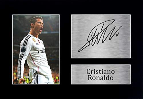 HWC Trading Cristiano Ronaldo A4 Ungerahmt Signiert Gedruckt Autogramme Bild Druck-Fotoanzeige Geschenk Für Real Madrid Fußball Fans