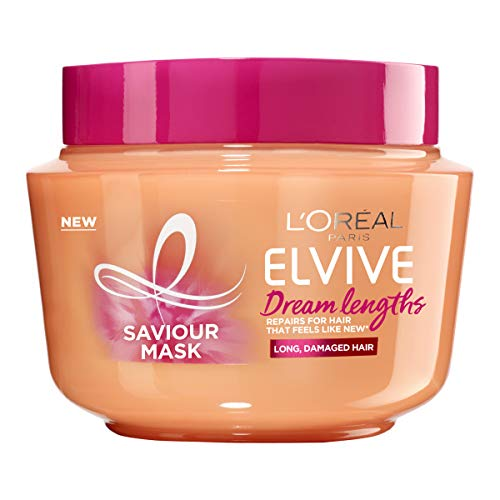 L'Oreal Paris Elvive Dream Lengths Saviour Mask 300ml (For Long, Damaged Hair), 300ml,