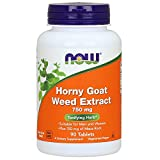 NOW Supplements, Horny Goat Weed Extract 750 mg Plus 150 mg of Maca Root, Tonifying Herb*, 90 Tablets