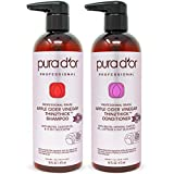 PURA D'OR Apple Cider Vinegar Thin2Thick Set Shampoo & Conditioner (2 x 16oz) Biotin, Keratin,...