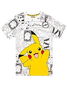 Pokemon Childrens/Boys Official Character Panel Design T-Shirt  11-12  Gray