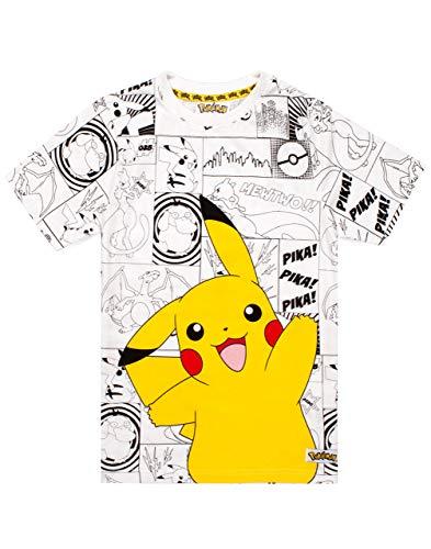 Pokemon Grey Panels Boy's T-Shirt
