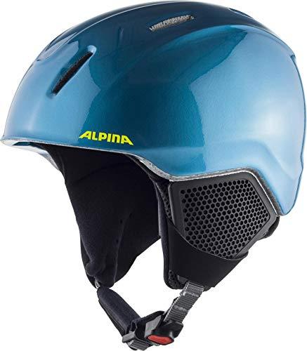 ALPINA CARAT LX Skihelm, Kinder, blue-neon-yellow, 51-55