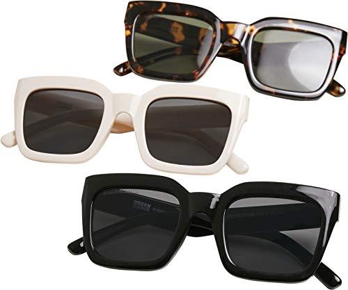 Urban Classics Sunglasses Skyros 3-Pack Gafas, marrón, negro y blanco, Talla única (Pack de 3) Unisex adulto