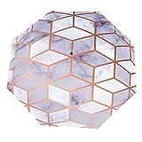Paraguas anti-UV para sol/lluvia,Mármol de cuadros de geometría blanca 3D Paraguas de viaje a prueba de viento: compacto, automático.