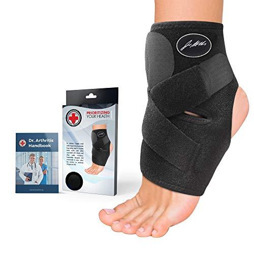 Cavigliera Premium Ortopedica con Filo Rame & Manuale Ideati da Medici. Supporto Tutore Caviglia per Sport, Distorsioni, Slogature Lesioni e Altre Patologie della Caviglia