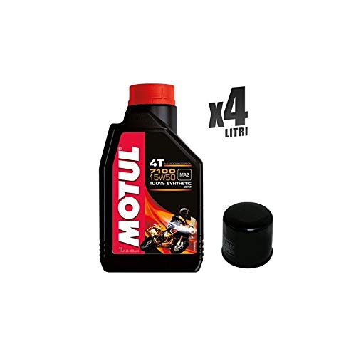 Motorcycle Kit 4 liter motorolie Motul 7100 15W50 filter 204