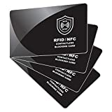 RFID Blocking Card | NFC Contactless Cards Protection | 1 Card Protects Your Entire Wallet | No More Need for Single...