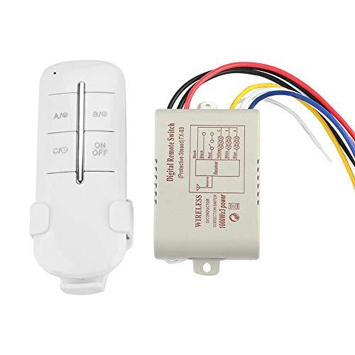 Smart WiFi Funk-Fernbedienung, Funkfernbedienung, Funksteuerungsschalter RF Modus 1/2/3/4 Ein/Aus, kabelloses Licht, AC180-240V 1000W Mr703