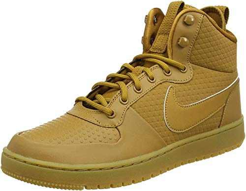 Nike Herren Court Borough Mid Winter Fitnessschuhe, Mehrfarbig (Wheat/Wheat/Black/Gum Light Brown 700), 41 EU