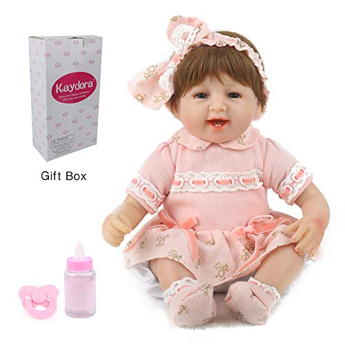 Kaydora Reborn Baby Doll Lifelike Adorable Baby Girl Doll, 16 Inch Weighted Baby Doll