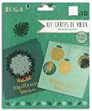 DRAEGER PARIS 1886 Bombay Kit 10 cartes de vœux, Papier, Or et Vert, 13x13 cm
